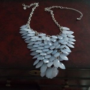Blue costume necklace